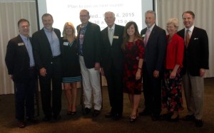 Historic photo of former Venture Connectors Presidents and Chairs at the 20th anniversary celebration